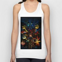 dragons Tank Tops featuring DRAGONS!! by Yahualli