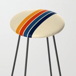 Classic Retro Stripes Counter Stool