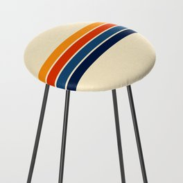 Classic Retro Stripes Counter Stool