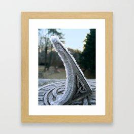 Sundial Frost Framed Art Print