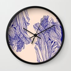 Dark tulip Wall Clock
