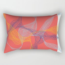 Lost in Lines [RED] Rectangular Pillow