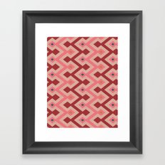 Kilim in pink Framed Art Print