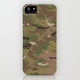 Military Woodland Camouflage Pattern iPhone Case