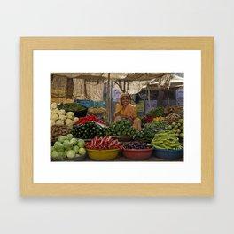 Bikaner lady Framed Art Print