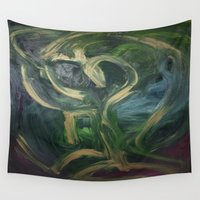 fat Wall Tapestries featuring fat boy  by Viaggio