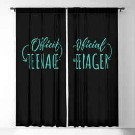 Official Teenager Gift Birthday Party Girl 13 Thirteen Years Blackout Curtain