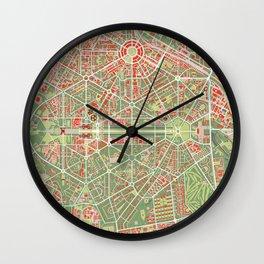 New Delhi map classic Wall Clock