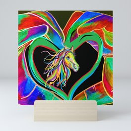 I HEART my HORSE! Mini Art Print