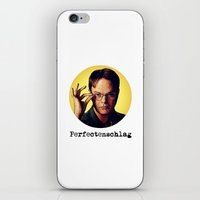 dwight schrute iPhone & iPod Skins featuring Perfectenschlag  |  Dwight Schrute by Silvio Ledbetter