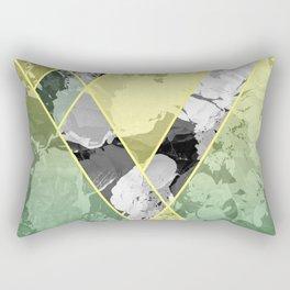 Contemporary Sunny Geometric Floral Pattern Rectangular Pillow