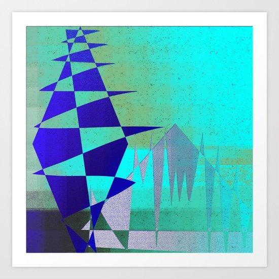 Cobalt Modiet Art Print