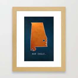 War Eagle Framed Art Print