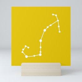 Scorpio (White & Gold) Mini Art Print