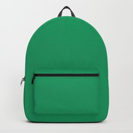 Irish Flag Green Simple Solid Color Backpack