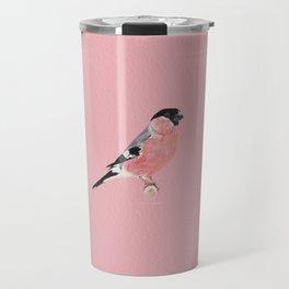 Siberian Bullfinch (rose palette) Travel Mug