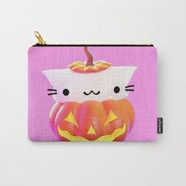 Pumpkin Cat Carry-All Pouch