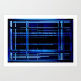Blue Lights, Big City Twist Art Print