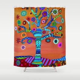 MHURI TREE OF LIFE Shower Curtain