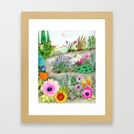 Flower Garden Wander Framed Art Print