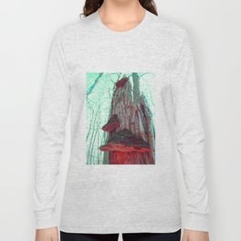 Tree Mushrooms Afterglow Long Sleeve T-shirt