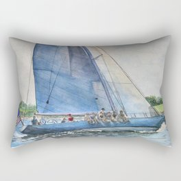 Sailing on Columbia 12 US 16 Rectangular Pillow