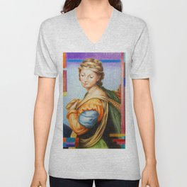 Sta Barbara. after Raphael Unisex V-Neck
