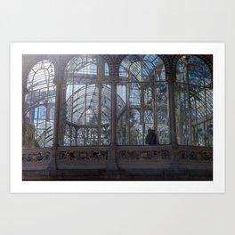 Pareja en el palacio de cristal Art Print