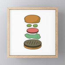 Bob's Burgers Hamburger Parts 2 Framed Mini Art Print