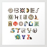 art history Art Prints featuring A-Z Art History by Made With Awesome