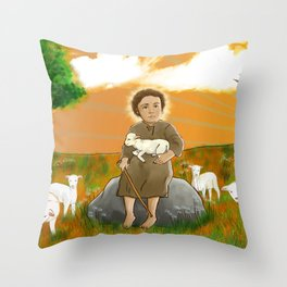 Child Jesus Sheperd - Menino Jesus Pastor Throw Pillow