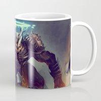 titan Mugs featuring Titan Terrabreaker by Benedick Bana