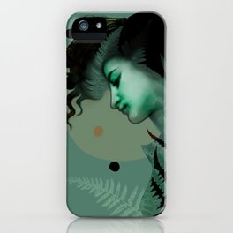 The Girl and the Moon (2) iPhone Case