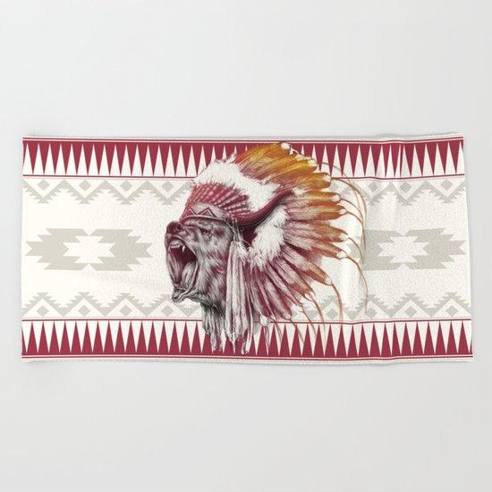 Chief Bear Beach Towel