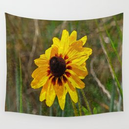 Black Eyed Susan - Photo turned Digital Paint Wall Tapestry