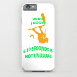 When I Boost 5-10 Seconds Is Not Unusual Neon Orange and Green iPhone Case
