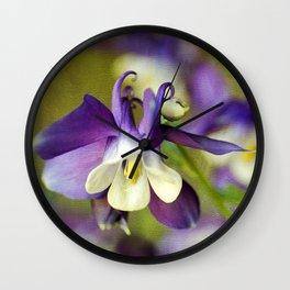 Purple Columbine Wall Clock