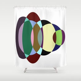 Pastel Meditation - Pastel coloured, relaxing, calming, abstract, elliptical interactions Shower Curtain