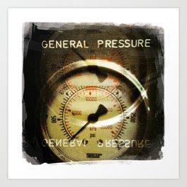 general pressure Art Print