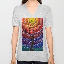 Mandala tree 256 Unisex V-Neck