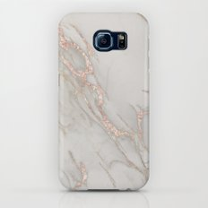 Marble Rose Gold Blush Pink Metallic by Nature Magick Galaxy S7 Slim Case