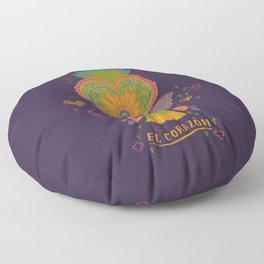 Mexican Heart Tassel (Corazon) - Purple Floor Pillow
