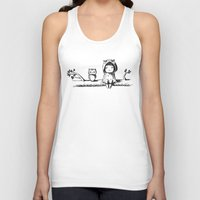 owls Tank Tops featuring Owls by Freeminds