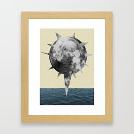 Moon Flower Framed Art Print