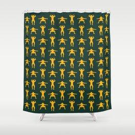 Clay Calisthenics Shower Curtain
