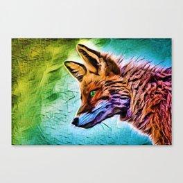 Night of the Fox Portrait Painting by Jeanpaul Ferro Canvas Print