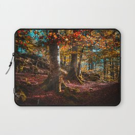 sunrise in the forest morning walk Laptop Sleeve
