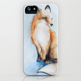 Fox illustration iPhone Case
