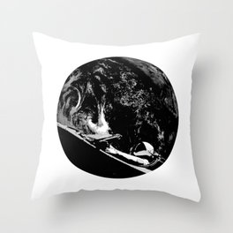SpaceX Starman in Space for Elon Musk and Tesla Fans Throw Pillow