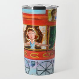 The Cabus of my Daughters' Circus Train El Cabus del Tren del Circo de mis Hijas Travel Mug